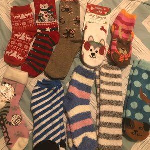 Fuzzy Socks (10 Pair lot)